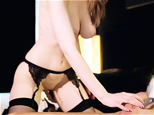 Stella Cox drilled by big shaft of Marc Rose