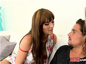 jism junkies Alexis Adams and Bianca Breeze filth around with Tyler Nixon