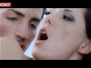 Spanish pornstar stunner Alexa Tomas gets cum in facehole