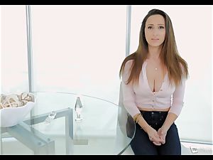 Ashley Adams gasps as her booty is plumbed