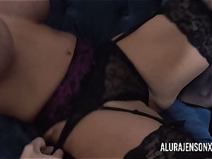 Alura and her busty girl/girl acquaintance Dolly get insatiable