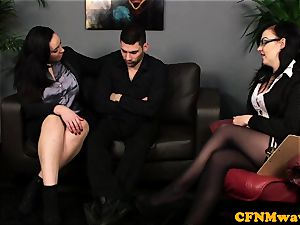 Bigtitted CFNM european boob job patients spunk-pump