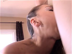 Pint sized Sara Luvv humps her fathers mate