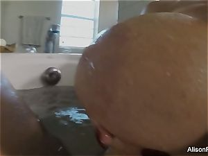 busty Alison Tyler takes a bathtub