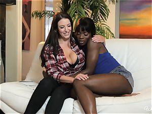 Ana Foxxx and Angela milky luvs interracial all girl activity