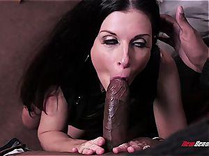 torrid wifey India Summer ejaculating on a ebony spunk-pump