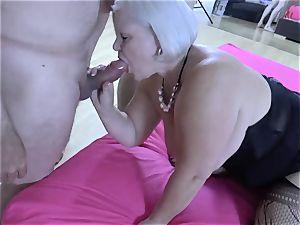 LACEYSTARR - thirsty grannie gang-fucked