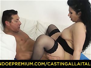 audition ALLA ITALIANA brunette nympho rough anal invasion bang-out
