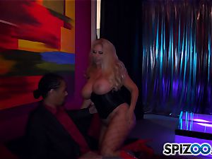 Stripper Karen Fisher works his pillar