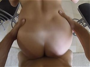 super-cute Keisha Grey pulverized point of view