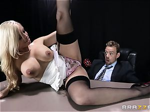 filthy boss is given a fuckable anal wish by Britney Amber