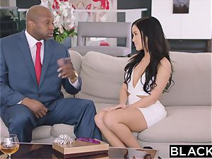 BLACKED warm Megan Rain Gets DP'd By Her Sugar parent and His acquaintance