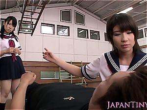 small chinese schoolgirls threesome penetrating
