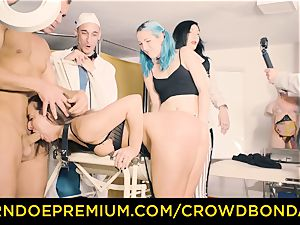 CROWD restrain bondage submissive Amirah Adara very first time bdsm