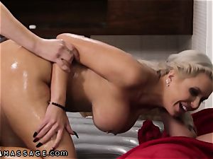 NuruMassage Nina Elle Takes Stepson's cherry meatpipe