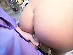 Housewife gets torn up in front of blind husband