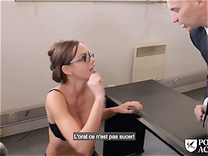 pornography ACADEMIE - brit Tina Kay steaming buttfuck in 3some