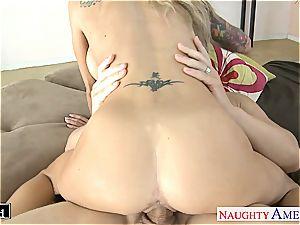 inked blonde Sarah Jessie plumbing
