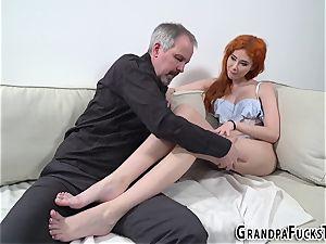 Ginger nubile bangs gramps