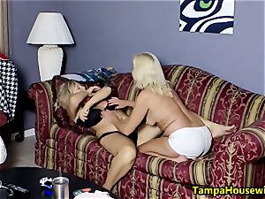 two insatiable femmes with fucktoys