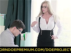 ultra-kinky instructor - big-titted cougar gets poked by her schoolgirl