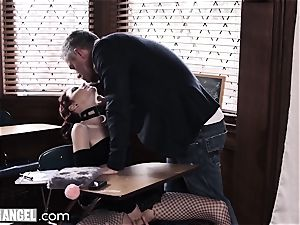 goth jacking In Detention is rectally punished