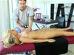 FantasyMassage big-chested honey orders massage In Office