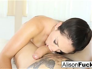 Alison Tyler gives a wonderful deepthroat job with tit fucking