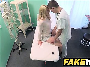 faux medical center sloppy medic gives towheaded Czech babe