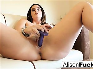phat breasted hotty Alison Tyler plays with her beaver