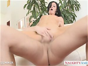 brunette India Summer gets pussy humped