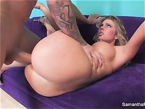 Samantha Saint gets her tight rosy honeypot banged