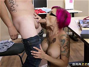 Oh my God! chesty teacher Anna Bell Peaks entices me during lesson