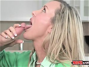 Mature babe Brandi enjoy with phat tits teaches youthfull sister and bro