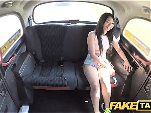 fake taxi stunning Thai girl with pierced pussy lips
