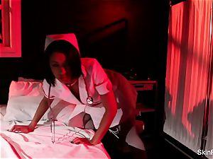 super sizzling nurse flesh Diamond gives a sumptuous tease