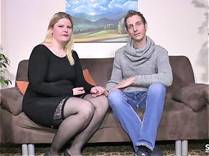 SextapeGermany - amateur bbw German gets pummeled