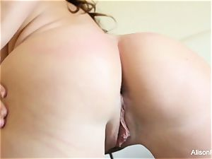 immense boobed ultra-cutie Alison Tyler plays with her twat