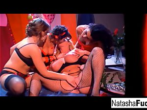 Charley chase, Natasha uber-cute, Sophie Dee, and river J moist