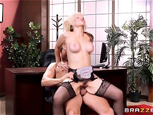 Sarah Vandella caught being insane in the office