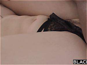school towheaded bombshell gets torn up by a big black cock for the very first time