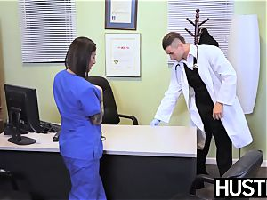 seductive nurse Stassi Sinclaire nails in doctors office