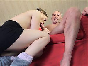 older porn little girl romped clean-shaved granddad in vag
