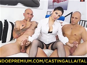 audition ALLA ITALIANA - super-fucking-hot milf has dual rectal joy