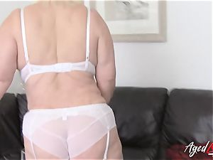 AgedLovE big-chested Lacey Starr gonzo and oral pleasure