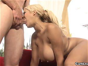 buxom Latina Bridgette B is ravaged by a meaty fuck-stick