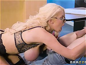 whorish instructor Nicolette Shea shagged by a bad student