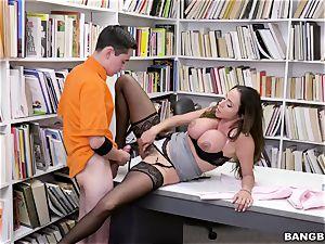 supreme mexican fun bags educator Ariella Ferrera seduces youthfull schoolboy