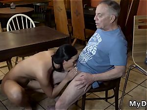 senior ash-blonde Can you trust your girlpatron leaving her alone with your parent?