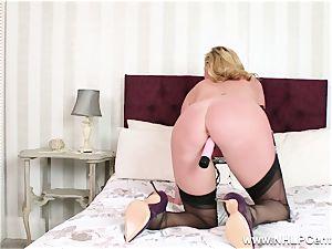 mischievous cougar fucktoys humid vulva in nylons high heels garters